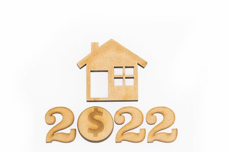 Saving for home purchase - 2022. White background