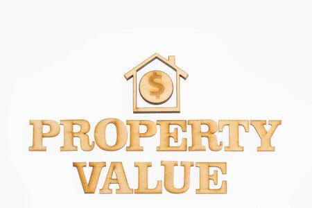 Property value - Concept. White background Stock fotó