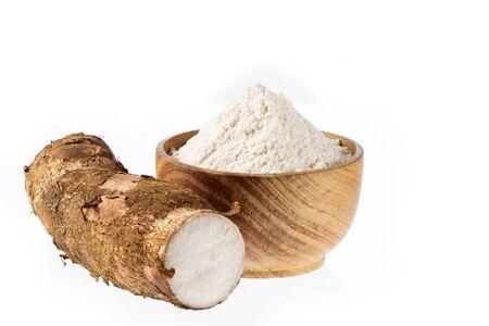 Manihot esculenta - Racine fraîche de manioc Banque d'images