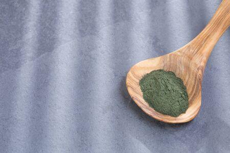 Spirulina powder (Spirulina) Stock Photo