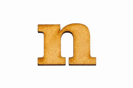 Mała litera n - Kawałek z drewna