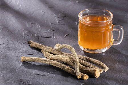 Valerian hot drink tea - Valerian twigs and tea