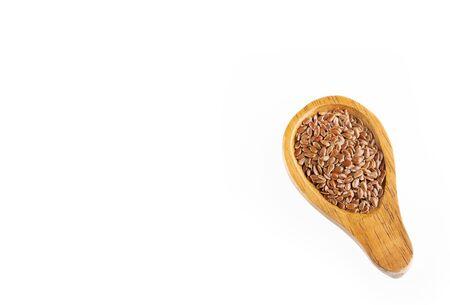 Organic linseed seeds - Linum usitatissimum.