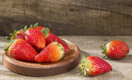 Fresh organic strawberries - Fragaria