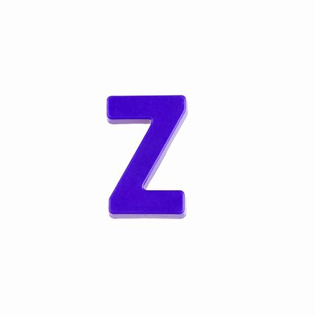 Letter Z in violet color - Plastic piece Zdjęcie Seryjne - 140204414