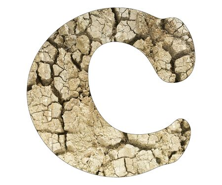 Letter C - Arid land detail Stock Photo