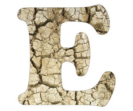 Letter E - Arid land detail