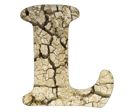 Letter L - Arid land detail Stock Photo