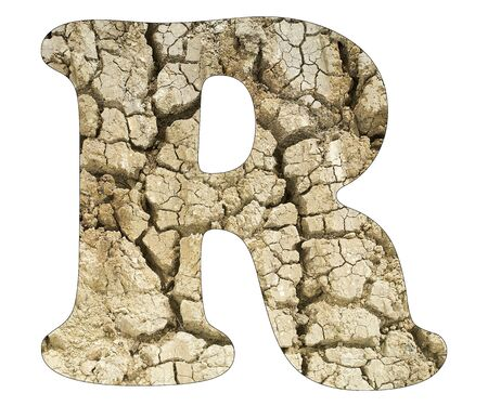 Letter R - Arid land detail