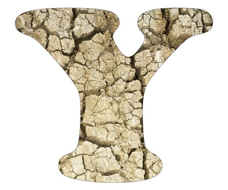 Letter Y - Arid land detail Stock Photo