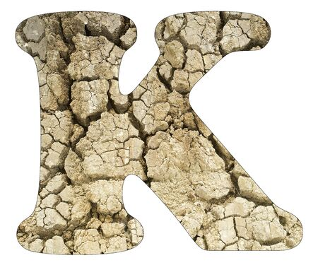 Letter K - Arid land detail Stock Photo