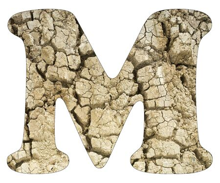 Letter M - Arid land detail Stock Photo