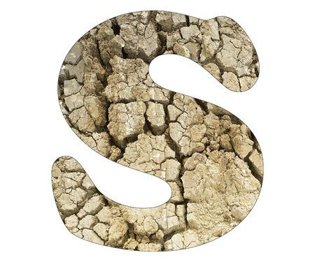 Letter S - Arid land detail Stock Photo - 140435208