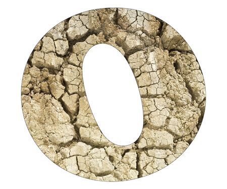 Letter O - Arid land detail Stock Photo