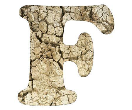 Letter F - Arid land detail