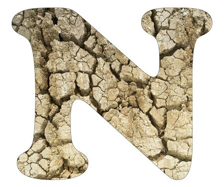 Letter N - Arid land detail Stock Photo
