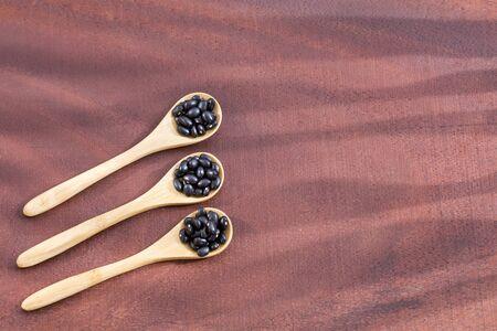 Raw black beans - Phaseolus vulgaris' Black turtle