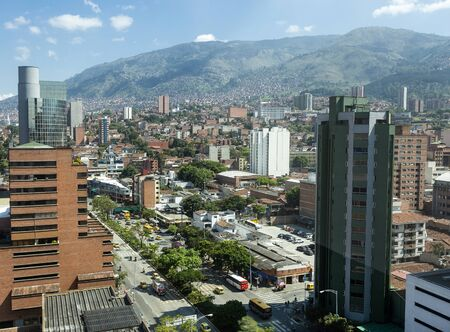 Medellín, Antioquia / Colombia - December 26, 2018. View of the downtown area of the city. Capital of the mountainous province of Antioquia