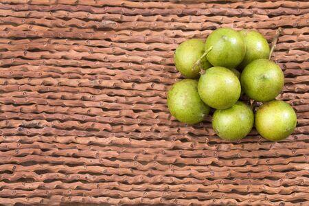 Mamoncillo delicious tropical fruit - Melicoccus bijugatus Stock Photo