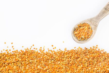 Bee pollen grains - White background Banco de Imagens