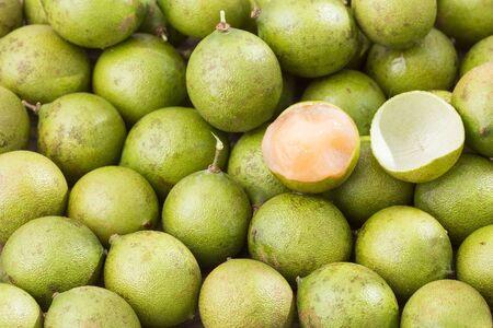 Fresh ripe peeled quenepa fruit - Melicoccus bijugatus