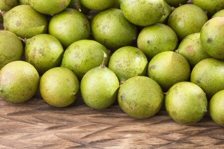 Fresh ripe peeled quenepa fruit - Melicoccus bijugatus. Mamoncillo