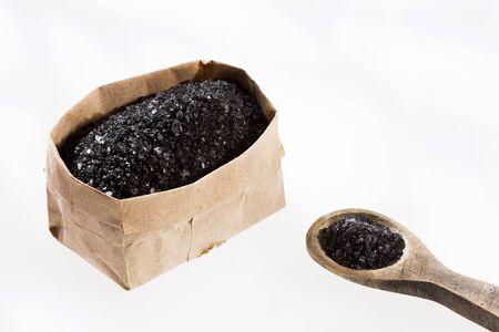 Hawaiian black salt in paper bag