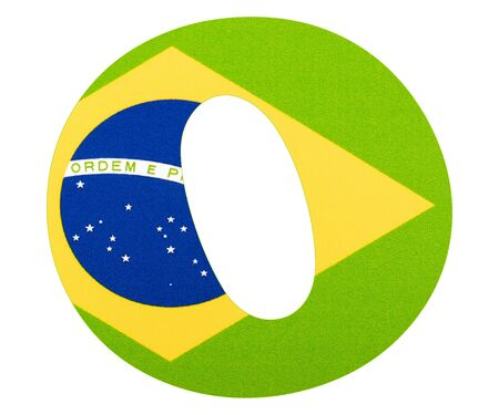 Letter O of the alphabet - Flag of Brazil Imagens