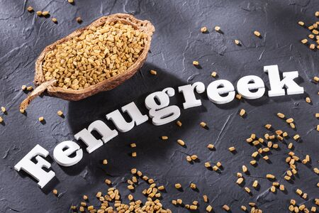 Trigonella foenum-graecum. Fenugreek seeds Zdjęcie Seryjne