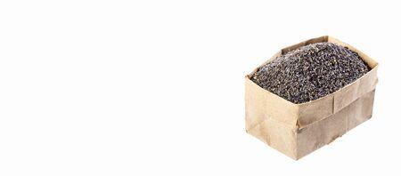 Papaver somniferum - Organic poppy seeds in paper bag