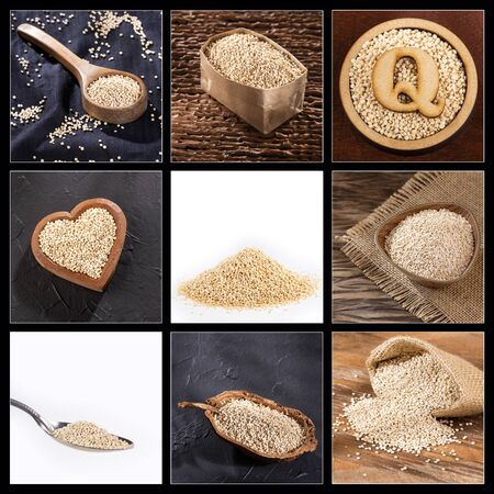 Creative collage of quinoa images - Chenopodium quinoa Zdjęcie Seryjne
