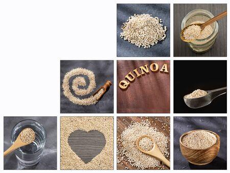 Chenopodium quinoa - Creative collage of quinoa images