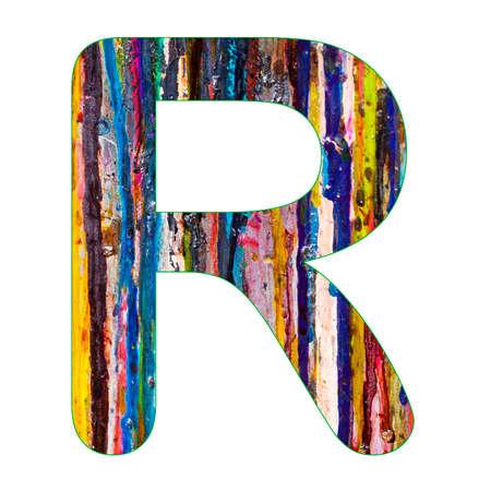 Alphabet letter R - Colorful paint splatter background Reklamní fotografie