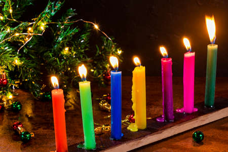 Night of the candles, traditional Colombian celebration