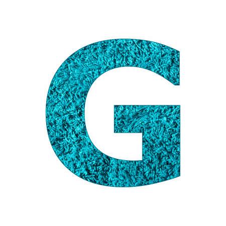 Uppercase Letter G - Blue Towel Background Stock fotó