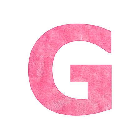 Alphabet Letter G - Pink plush texture Stock fotó