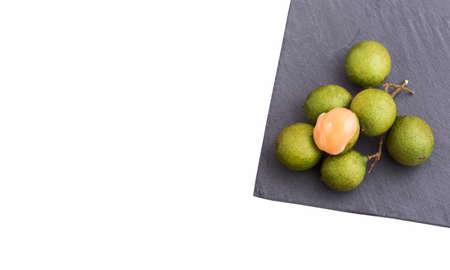 Melicoccus bijugatus - Fresh ripe peeled quenepa fruit