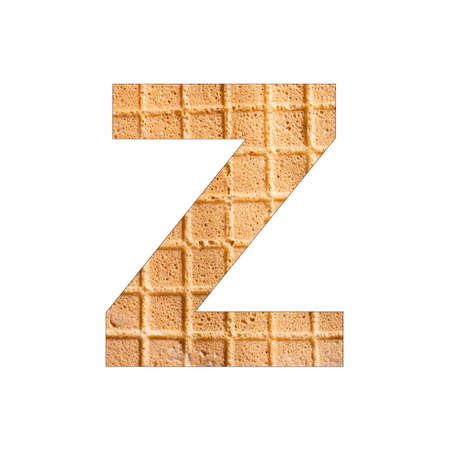 Alphabet Letter Z - Wafer close-up texture Stock fotó