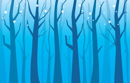 冬のツリー、壁紙森を背景します。