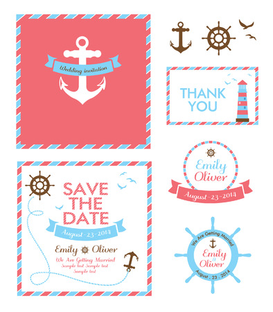 wedding invitation card nautical style