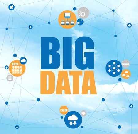Big data network cloud computing concept data analytics Stok Fotoğraf