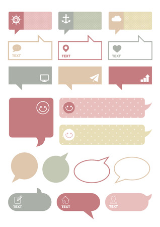speech bubble, speaking bubbles collection, text box template Çizim
