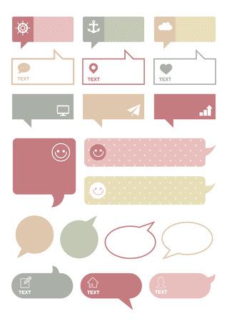 tekstballon, spreken bubbels collectie, tekstvak sjabloon