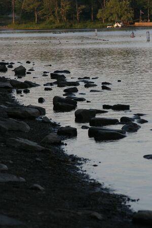 shore line: A lake shore line