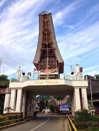 toraja: Awesome arch in Toraja Stock Photo