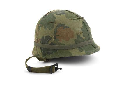 wwii: US Army helmet - Vietnam era - on white background