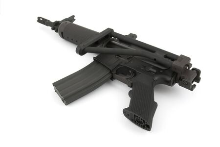 M16: Rifle on the white background  Stock Photo