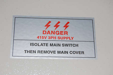 mains: Mains Electric Danger Stock Photo