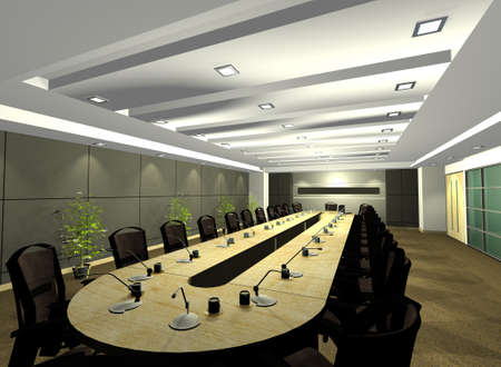 autocad: Conference Room Illustration