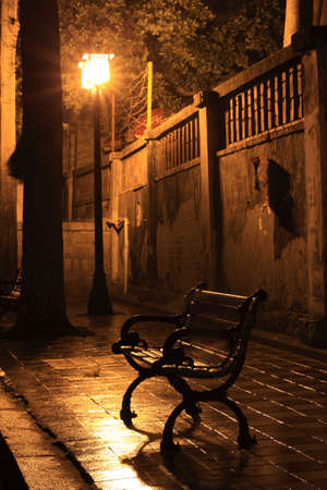 Warm light and night street in Xiamen photo